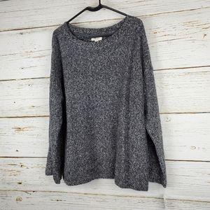 NWT Style & Co Grey Marled Flare Sleeve Sweater